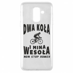 Phone case for Samsung A6+ 2018 Bicyclista rides a bicycle
