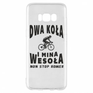 Phone case for Samsung S8 Bicyclista rides a bicycle