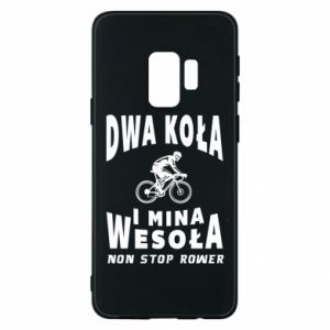 Phone case for Samsung S9 Bicyclista rides a bicycle