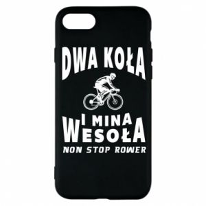 Phone case for iPhone 8 Bicyclista rides a bicycle