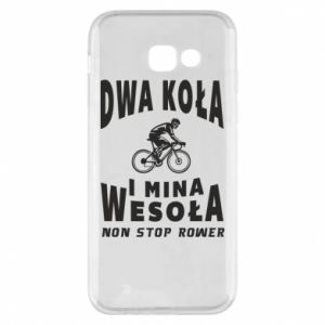 Phone case for Samsung A5 2017 Bicyclista rides a bicycle