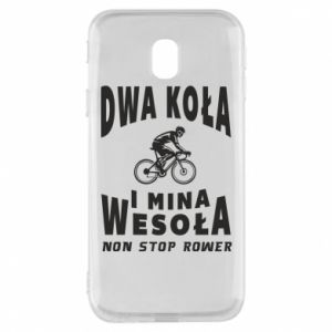 Phone case for Samsung J3 2017 Bicyclista rides a bicycle