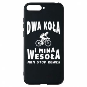 Phone case for Huawei Y6 2018 Bicyclista rides a bicycle