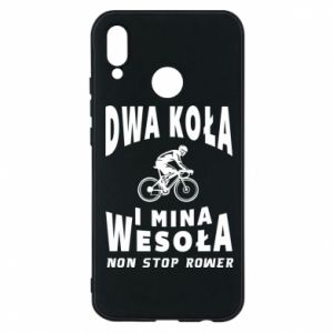 Phone case for Huawei P20 Lite Bicyclista rides a bicycle