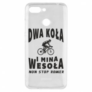 Phone case for Xiaomi Redmi 6 Bicyclista rides a bicycle