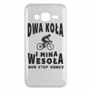 Phone case for Samsung J3 2016 Bicyclista rides a bicycle