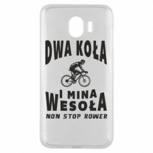 Phone case for Samsung J4 Bicyclista rides a bicycle