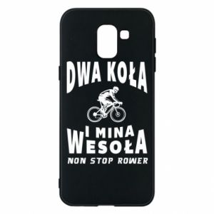 Phone case for Samsung J6 Bicyclista rides a bicycle
