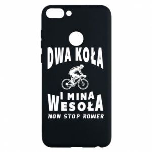 Phone case for Huawei P Smart Bicyclista rides a bicycle