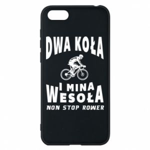 Phone case for Huawei Y5 2018 Bicyclista rides a bicycle