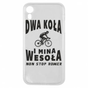 Phone case for iPhone XR Bicyclista rides a bicycle