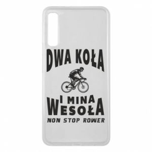 Phone case for Samsung A7 2018 Bicyclista rides a bicycle