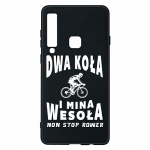 Phone case for Samsung A9 2018 Bicyclista rides a bicycle