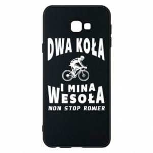 Phone case for Samsung J4 Plus 2018 Bicyclista rides a bicycle