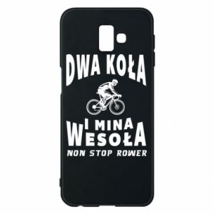 Phone case for Samsung J6 Plus 2018 Bicyclista rides a bicycle
