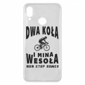 Phone case for Huawei P Smart Plus Bicyclista rides a bicycle
