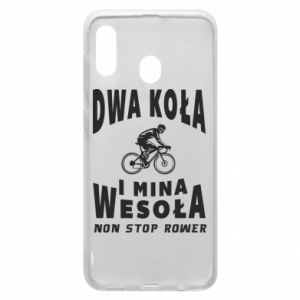 Phone case for Samsung A20 Bicyclista rides a bicycle