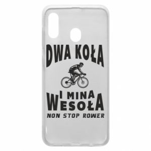 Phone case for Samsung A30 Bicyclista rides a bicycle