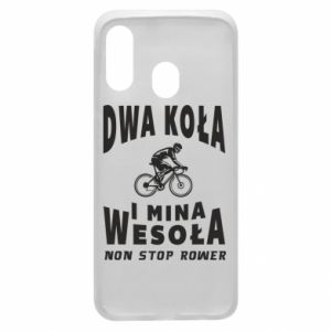 Phone case for Samsung A40 Bicyclista rides a bicycle