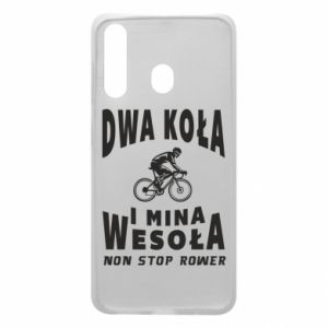 Phone case for Samsung A60 Bicyclista rides a bicycle