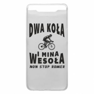 Phone case for Samsung A80 Bicyclista rides a bicycle
