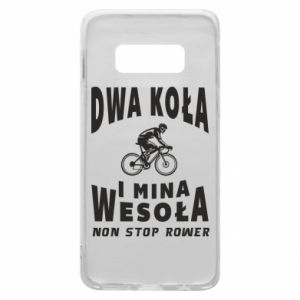 Phone case for Samsung S10e Bicyclista rides a bicycle