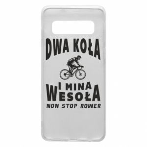 Phone case for Samsung S10 Bicyclista rides a bicycle