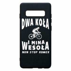 Phone case for Samsung S10+ Bicyclista rides a bicycle