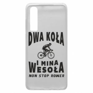 Phone case for Huawei P30 Bicyclista rides a bicycle