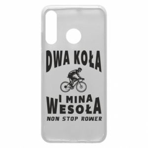 Phone case for Huawei P30 Lite Bicyclista rides a bicycle
