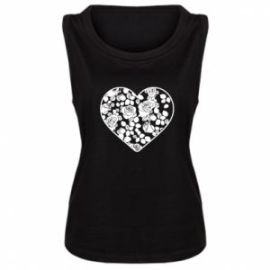 Women's t-shirt Roses in the heart