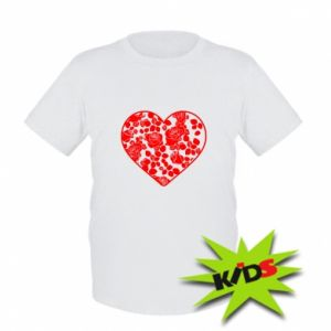 Kids T-shirt Roses in the heart