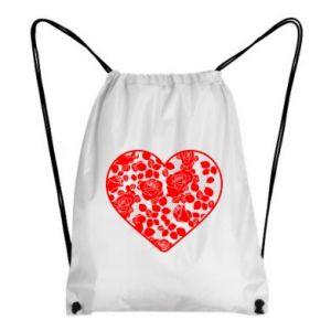 Plecak-worek Róże w sercu
