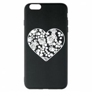 Phone case for iPhone 6 Plus/6S Plus Roses in the heart - PrintSalon