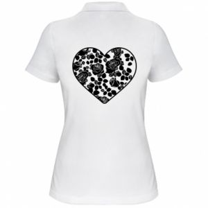 Women's Polo shirt Roses in the heart
