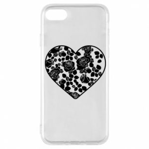 Phone case for iPhone 7 Roses in the heart - PrintSalon