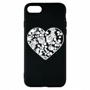 Phone case for iPhone 8 Roses in the heart - PrintSalon