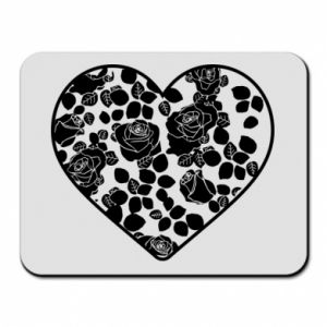 Mouse pad Roses in the heart - PrintSalon