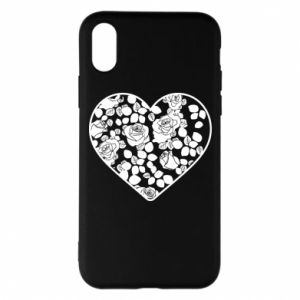 Phone case for iPhone X/Xs Roses in the heart - PrintSalon