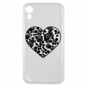 Phone case for iPhone XR Roses in the heart - PrintSalon