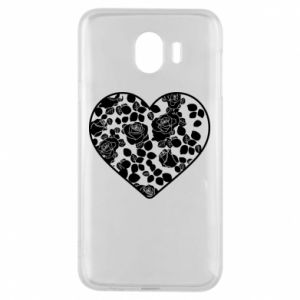 Phone case for Samsung J4 Roses in the heart