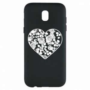 Phone case for Samsung J5 2017 Roses in the heart