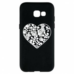 Phone case for Samsung A5 2017 Roses in the heart - PrintSalon
