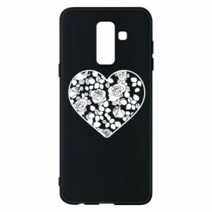 Phone case for Samsung A6+ 2018 Roses in the heart - PrintSalon