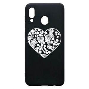 Phone case for Samsung A20 Roses in the heart - PrintSalon