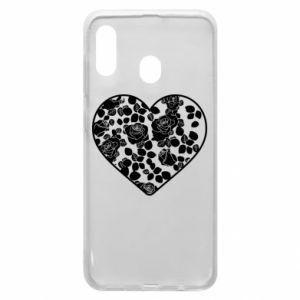 Phone case for Samsung A30 Roses in the heart - PrintSalon
