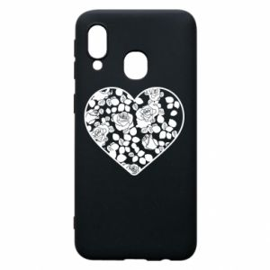 Phone case for Samsung A40 Roses in the heart - PrintSalon
