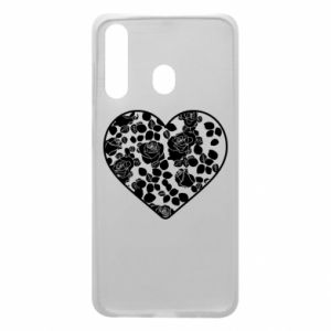 Phone case for Samsung A60 Roses in the heart - PrintSalon
