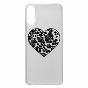 Phone case for Samsung A70 Roses in the heart - PrintSalon