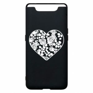 Phone case for Samsung A80 Roses in the heart - PrintSalon